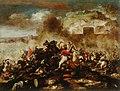 Antonio Calza - Bitka s Turki pred obzidanim mestom.jpg