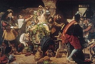 Antonio Fabrés - Image: Antonio Fabrés The Drunkards (Bacchanal) Google Art Project