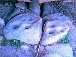 Bedrock mortar