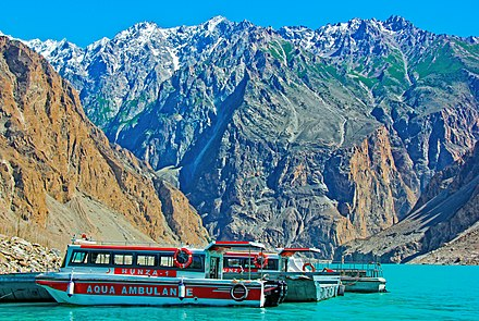 Attabad Lake in Hunza Valley Aqua Ambulance.jpg