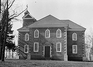 Kate Waller Barrett -  Aquia Church in Stafford, Virginia, was the first and last assignment of the Rev. Dr. Robert South Barrett. He and Kate Waller Barrett are buried in its cemetery.