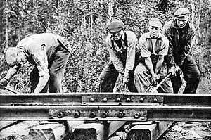 Swedish railroad workers.