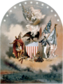 Arms of the United States of America (1864), by Joseph E. Baker.png