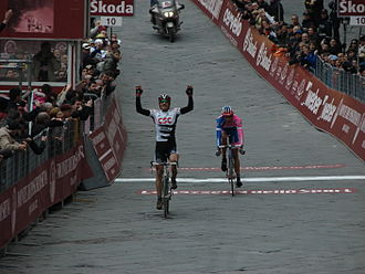 Strade Bianche - Fabian Cancellara won the 2008 Eroica in a two-man sprint with Alessandro Ballan.