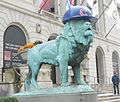 Art Institute Lions with Cubs helmets (29968381503) (cropped).jpg
