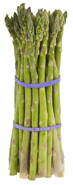 Asparagus - A bundle of cultivated asparagus