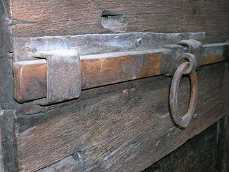 Latch - A crossbar on a door