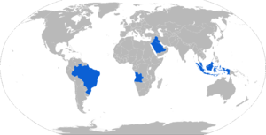 Astros II MLRS - Map with Astros II operators in blue
