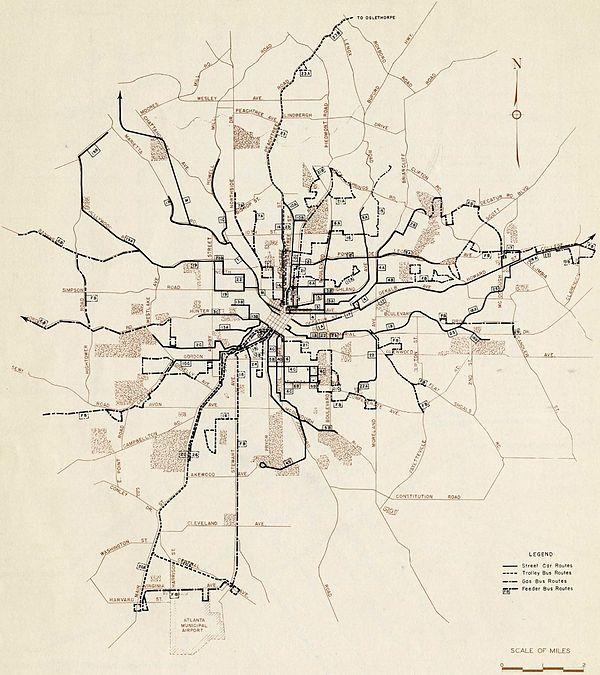 atlanta streetcar route map Streetcars In Atlanta Wikipedia atlanta streetcar route map