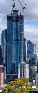 skyscraper currently under construction in Melbourne, Australia