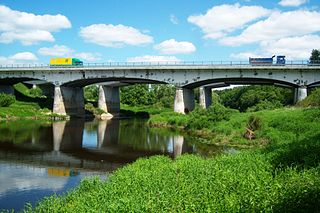 Nevėžis.Automagistralės Vilnius-Klaipėda (A1) tiltas.Foto:Vilensija