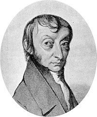 A greyscale drawing of the scientist Avogadro