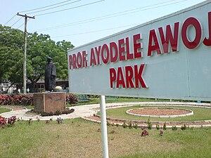 Babatunde Fashola - Ayodele Awojobi Memorial Park, Onike Round-about, Yaba, Lagos.