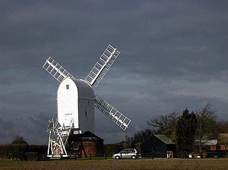 Aythorpe Roding Windmill - The restored mill in February 2005