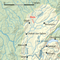 Bèze river map-fr.png