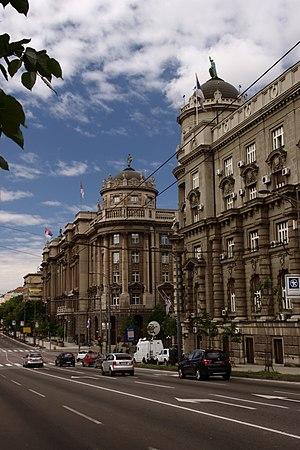 Kneza Miloša street - Image: Bělehrad, Kneza Miloša, budova vlády
