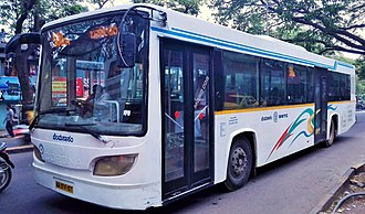 Bangalore Metropolitan Transport Corporation - A BMTC Corona bus