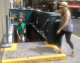 57th Street–Seventh Avenue (BMT Broadway Line) - 55th Street stairs