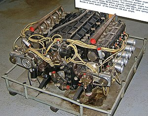 Formula One car - The BRM H16 engine, tough but not successful was a 16-cylinder 64-valve engine that powered the BRM team