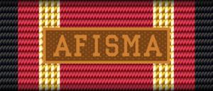 German Armed Forces Deployment Medal - Image: BW Einsatz AFISMA Bandschnalle bronze