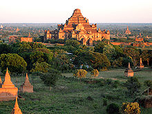 Pagodas and temples continue to exist in present-day Bagan, the capital of the Bagan Kingdom.