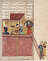 Bahram Gur and the Slave Girl- 'Practice Makes Perfect', a Page from the Khamsa of Nizami (Haft Paykar or 'Seven Portraits') LACMA M.73.5.418.jpg