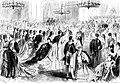 Bal de la cour lors du mariage de la princesse Louise de Belgique avec le prince Philippe de Saxe-Cobourg et Gotha le 4 février 1875.jpg
