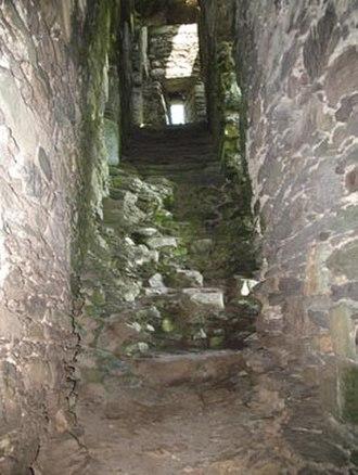 Ballycarbery Castle - Broken stairs.