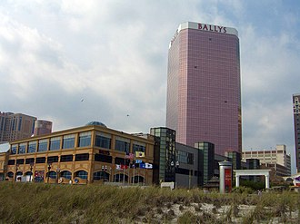 Bally's Atlantic City - View of Bally's from the beach