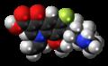 Balofloxacin molecule spacefill.png