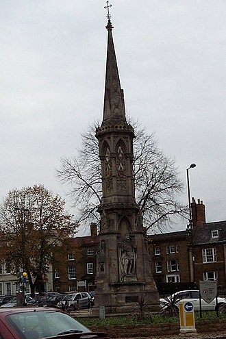 John Gibbs (architect) - Banbury Cross in Banbury, north Oxfordshire, designed by Gibbs and built in 1859.