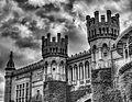 Bangalore Palace (b&w) (15705482167).jpg