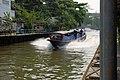 Bangkok river boat taxi, Khlong Saen Saep, Bangkok, Thailand.jpg