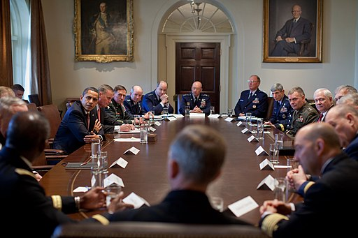 Barack Obama meets Combatant Commanders in the Cabinet Room