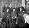 Barrès, Erlich, Galli, Ignace, Millerand, Paté et Petitjean (phot. Rol, 1919).jpeg