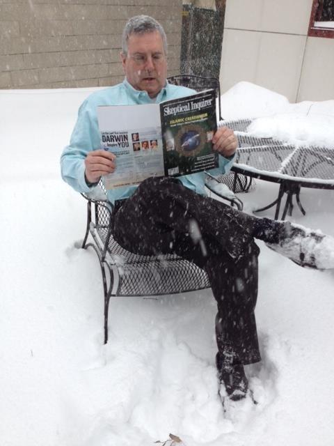 Barry Karr reading Skeptical Inquirer