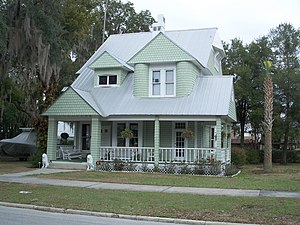 Bartow, Florida - The Benjamin Franklin Holland House located at 590 East Stanford Avenue