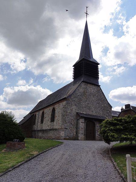 Barzy-en-Thiérache (Aisne, Fr) église, façade
