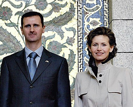 Assad and his wife Asma, 2003 Bashar and Asma al-Assad.jpg