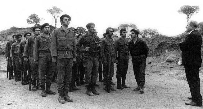 Bashir Gemayel and William Hawi inspecting the Kataeb troops
