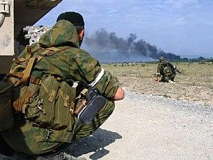 Spetsnaz GRU - Ethnic-Chechen Spetsnaz soldiers of Sulim Yamadayev's Battalion Vostok in Georgia in 2008