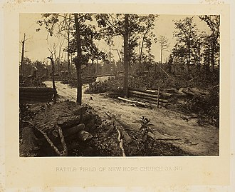 "Dallas, Georgia - A picture, circa 1864-1866, of the ""Hell Hole"" after the Battle of New Hope Church, which was part of the Battle of Dallas."