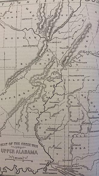 Battle of Talladega - Image: Battle of Horseshoe Bend