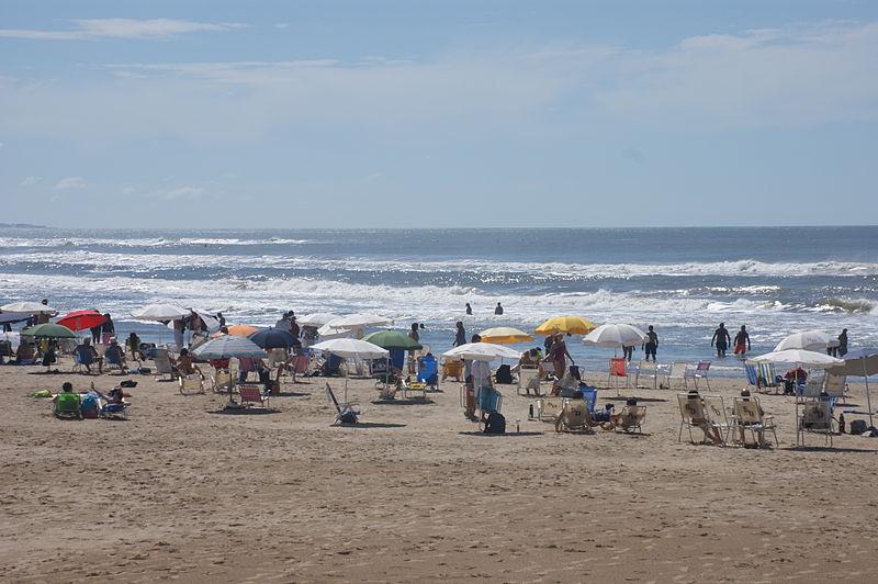 Praia dos dedos em Punta del Este