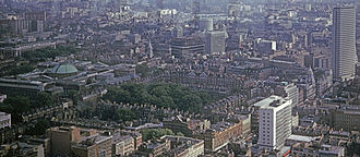 Bedford Square - Bedford Square from the BT Tower in 1966
