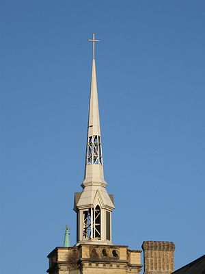 English: Belfry of Olivet Baptist Church at Br...