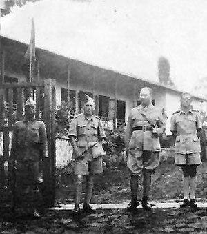 Auguste Gilliaert - Image: Belgian officers in Saio
