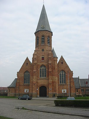Zeebrugge - The church of Zeebrugge
