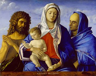 Giovanni Bellini - Madonna and Child with John the Baptist and Saint Elizabeth