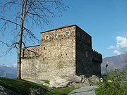Bellinzona Castello di Sasso Corbaro aussen